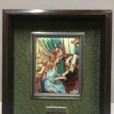 Varios objetos de Arte: CUADRO RENOIR ESMALTE AL FUEGO. Lote 74752079