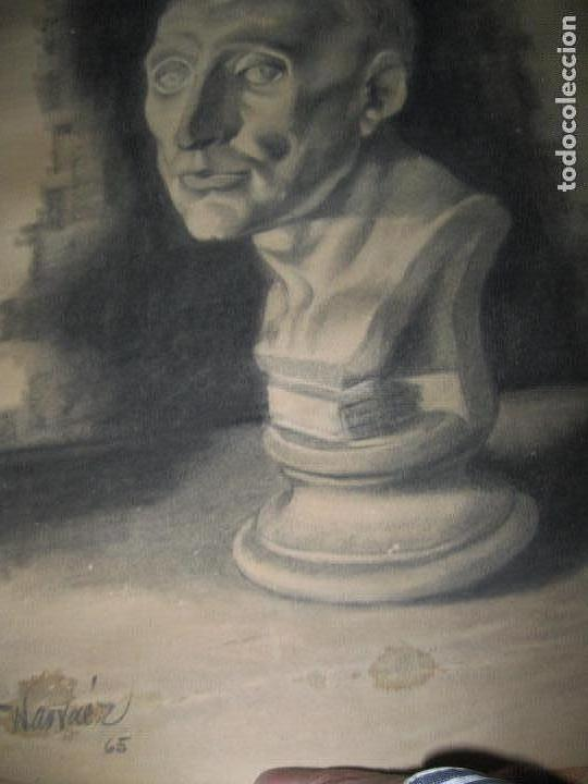 Varios objetos de Arte: PINTOR DE MALAGA SALVADOR TORRES NARVAEZ AUTORRETRATO A TAMAÑO NATURAL CIRCA 1965 - Foto 3 - 74861747
