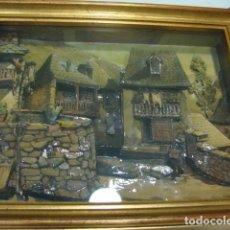 Varios objetos de Arte: CUADRO DE PAISAJE EN RELIEVE. Lote 75058603