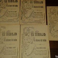 Varios objetos de Arte: CUADERNOS DE DIBUJOS. DE 1907.. PARA INICIARSE A LA PINTURA , DE JUAN FERRER MIRÓ . AÑO 1907. Lote 75109097