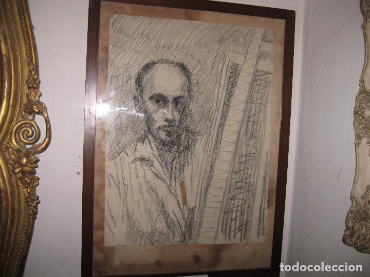 PINTOR DE MALAGA SALVADOR TORRES NARVAEZ AUTORRETRATO A TAMAÑO NATURAL CIRCA 1965 (Arte - Varios Objetos de Arte)