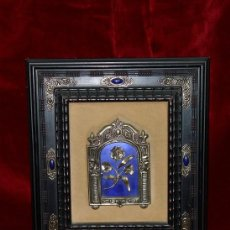 Varios objetos de Arte: PRECIOSA COMPOSICION FLORAL EN PLATA Y CRISTAL. Lote 75874903