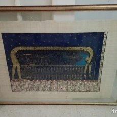 Varios objetos de Arte: BONITO PERGAMINO EGIPCIO ENMARCADO GRAN TAMAÑO. Lote 76269787