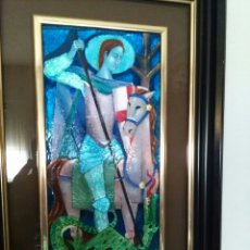 Varios objetos de Arte: SANT JORDI ESMALTE AL FUEGO DE MONTSERRAT MAINAR BENEDICTO (BARCELONA 1928 -- 2015). Lote 76751870