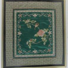 Varios objetos de Arte: C- 550. TELA DE SEDA BORDADA. S.XX.. Lote 78031053