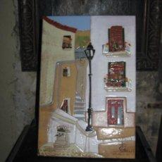 Varios objetos de Arte: PINTURA EN AZULEJO CERAMICA ALICANTINA GERARD CALLE DE ALICANTE BARRIO SANTA CRUZ. Lote 130161542