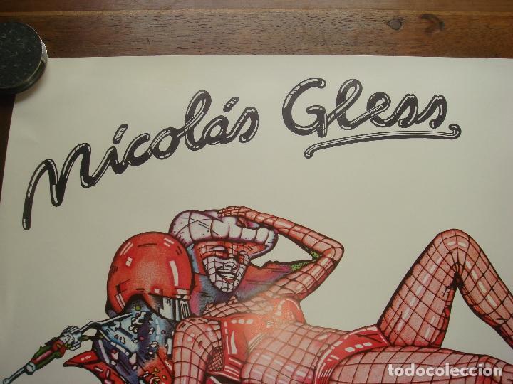 """Varios objetos de Arte: CARTEL ORIGINAL DE LA EXPOSICION """"NICOLAS GLESS, PINTOR"""" EN LA GALERIA MULTITUD. MADRID 1976. - Foto 3 - 78531769"""