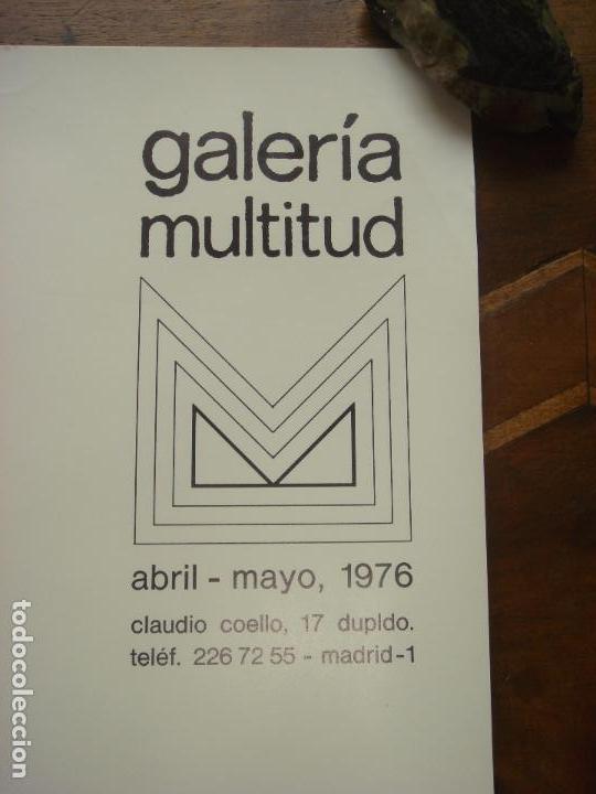 """Varios objetos de Arte: CARTEL ORIGINAL DE LA EXPOSICION """"NICOLAS GLESS, PINTOR"""" EN LA GALERIA MULTITUD. MADRID 1976. - Foto 4 - 78531769"""