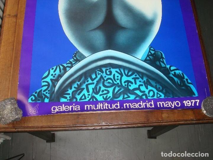 """Varios objetos de Arte: CARTEL ORIGINAL DE LA EXPOSICION """"URCULO, PINTOR"""". GALERIA MULTITUD. MADRID. 1977 - Foto 2 - 78532661"""