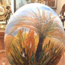 Varios objetos de Arte: HUEVO DE AVESTRUZ HUECO PINTADO A MANO, AL OLEO - MEDIDAS: 14 X 16 CENTIMETROS . Lote 79352157