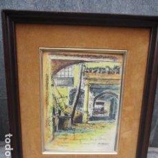 Varios objetos de Arte: PRECIOSO CUADRO DE BARCELONA EN ESMALTE SOBRE CHAPA . Lote 79663809