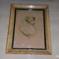 Varios objetos de Arte: VIEJO CUADRO PINTADO A MANO ORIGINAL FIRMADO. Lote 79812397