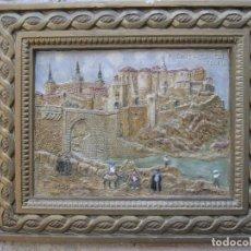 Varios objetos de Arte: CUADRO ANTIGUO DE TOLEDO REALIZADO EN ESTUCO. PIEZA UNICA.. Lote 79925985