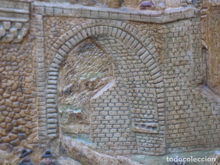 Varios objetos de Arte: CUADRO ANTIGUO DE TOLEDO REALIZADO EN ESTUCO. PIEZA UNICA. - Foto 6 - 79925985