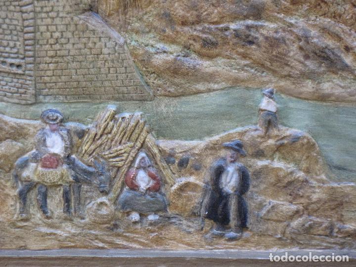 Varios objetos de Arte: CUADRO ANTIGUO DE TOLEDO REALIZADO EN ESTUCO. PIEZA UNICA. - Foto 10 - 79925985