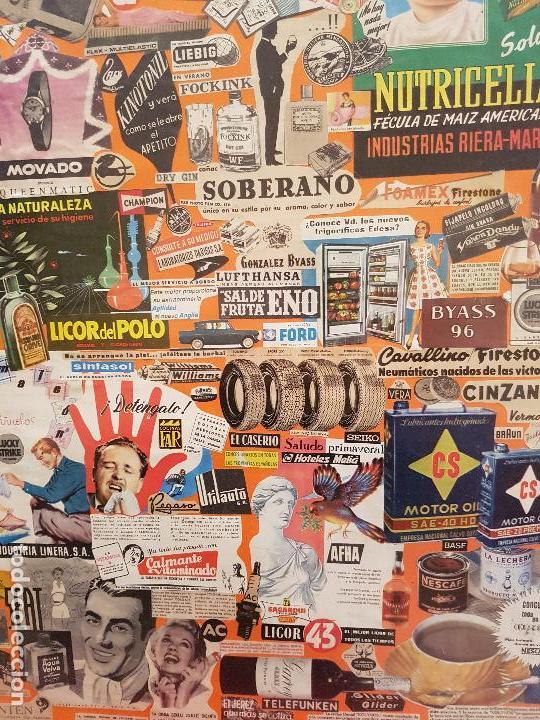 Varios objetos de Arte: COLLAGE CON PUBLICIDAD ANTIGUA ORIGINAL AÑOS 60-70 CARTEL CUADRO DECORACION PUBLICITARIO MARCAS - Foto 4 - 79926245