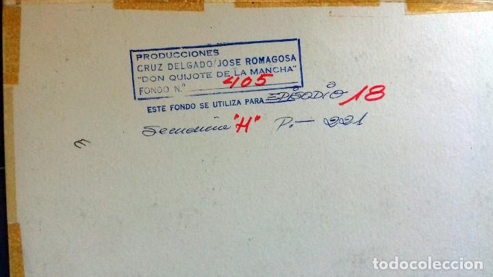 Varios objetos de Arte: FONDO 405 ORIGINAL DE LA SERIE DE DIBUJOS ANIMADOS D. QUIJOTE DE LA MANCHA (1979) - Témpera - Foto 2 - 80488869