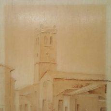 Varios objetos de Arte: LAS CASAS DEL SEÑOR, MONOVAR, PIROGRABADO SOBRE TABLA. FIRMADO A. NAVARRO. Lote 80533254