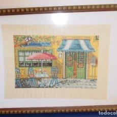 Varios objetos de Arte: BONITO CUADRO EN PUNTO DE CRUZ. Lote 80584410