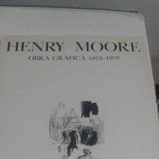 Varios objetos de Arte: CARTEL DE LA EXPOSICIÓN DE HENRY MOORE EN LA GALERIA EUDE DE BARCELONA 1975. Lote 80813331