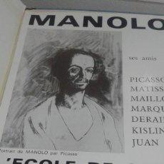 Varios objetos de Arte: CARTEL, MANOLO, (SUS AMIGOS) SES AMIS) 1967, MANOLO HUGUE. Lote 80924324