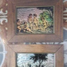 Varios objetos de Arte: CUADRO RELIEVE METAL POLICRONADO CESART. Lote 81063798