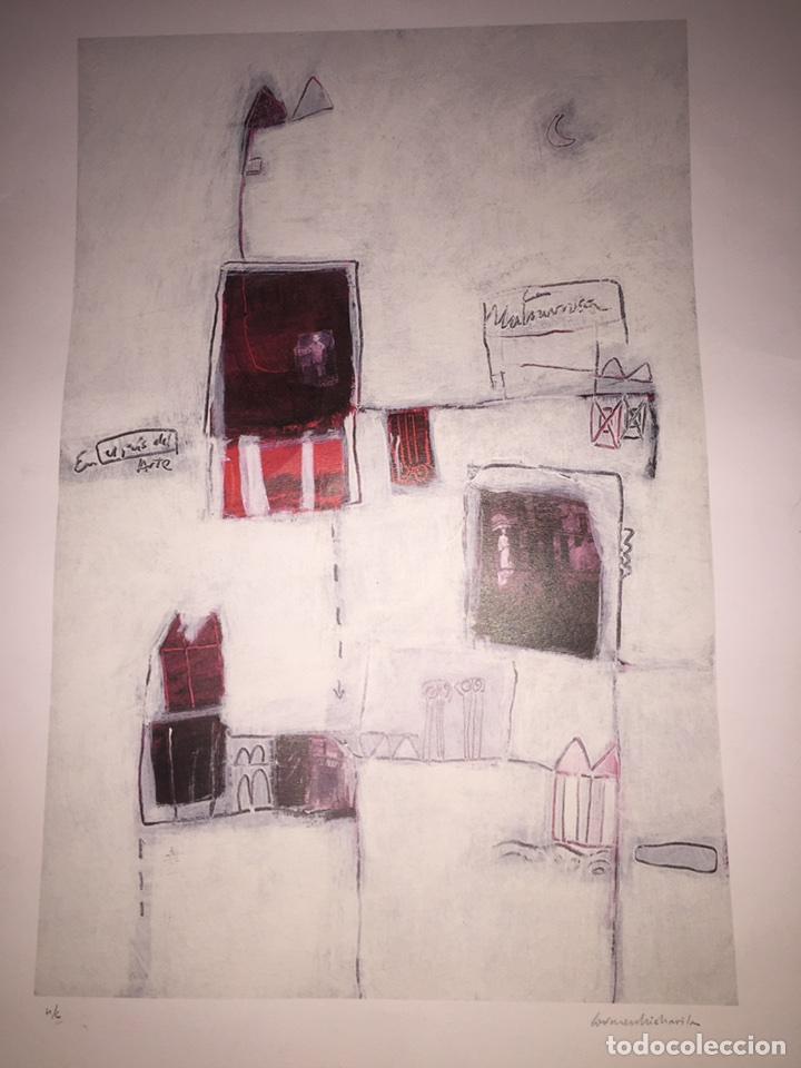 CARMEN MICHAVILA. LAMINA PINTURA H/C. MALVARROSA. (Arte - Varios Objetos de Arte)