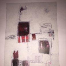 Varios objetos de Arte: CARMEN MICHAVILA. LAMINA PINTURA H/C. MALVARROSA.. Lote 81110860