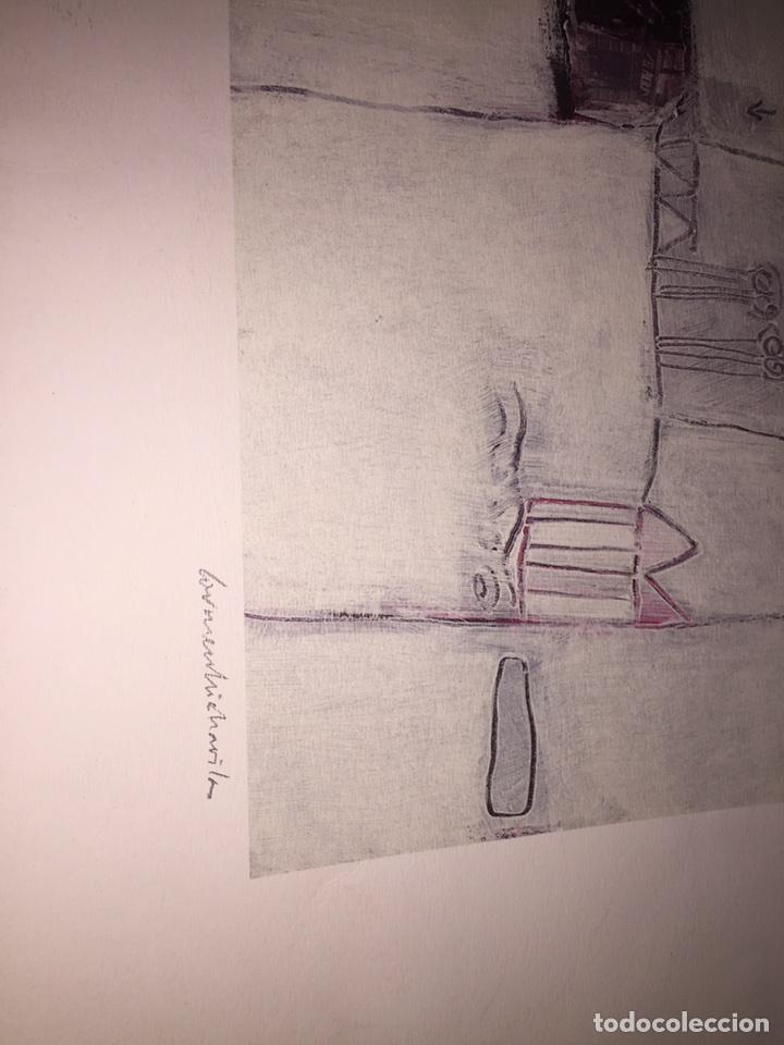 Varios objetos de Arte: CARMEN MICHAVILA. LAMINA PINTURA H/C. MALVARROSA. - Foto 2 - 81110860