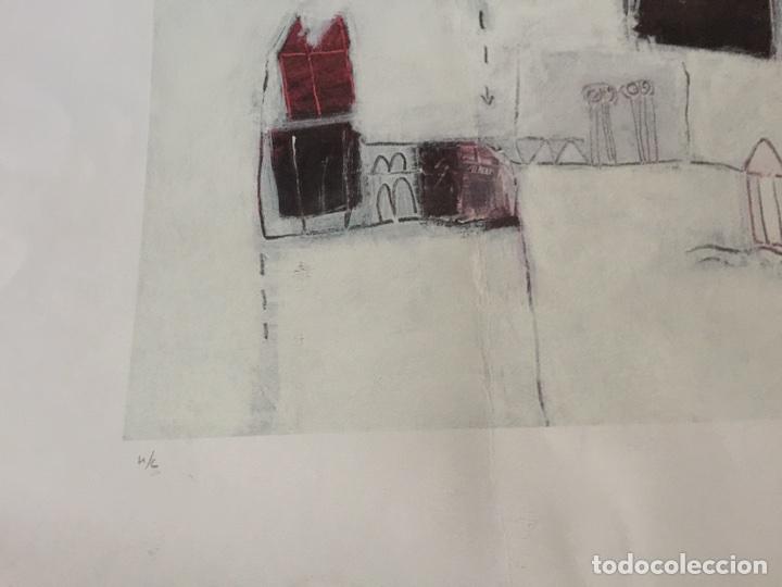 Varios objetos de Arte: CARMEN MICHAVILA. LAMINA PINTURA H/C. MALVARROSA. - Foto 3 - 81110860