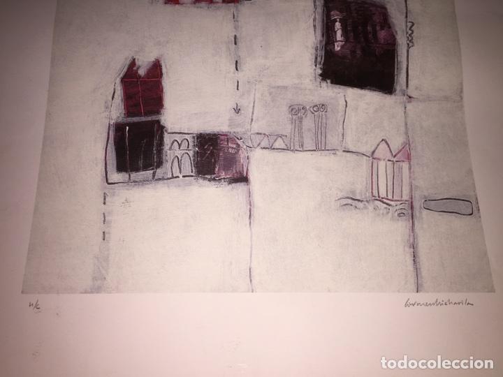 Varios objetos de Arte: CARMEN MICHAVILA. LAMINA PINTURA H/C. MALVARROSA. - Foto 5 - 81110860