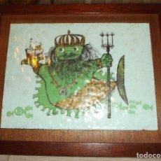 Varios objetos de Arte: ESMALTE ENMARCADO AÑOS 60. Lote 81686680