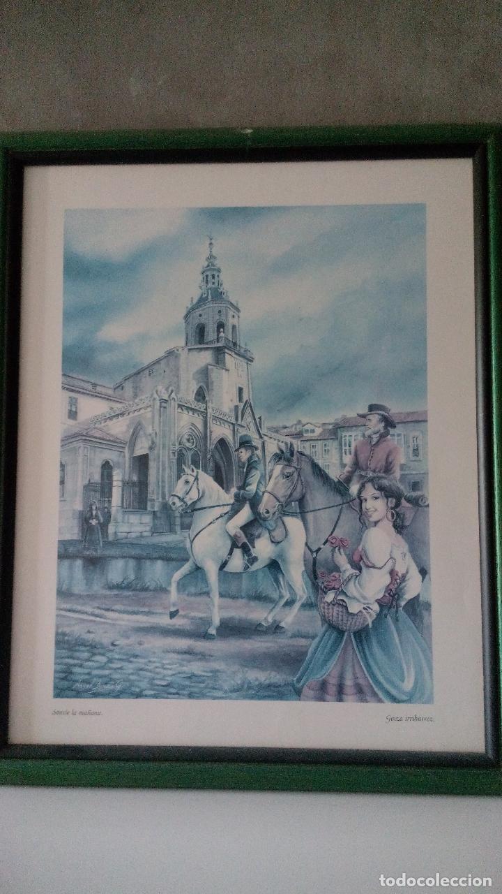 Varios objetos de Arte: CUADROS DE LÁMINAS DE VITORIA GASTEIZ DIVERSAS ESCENAS VER FOTOS - Foto 3 - 269017239