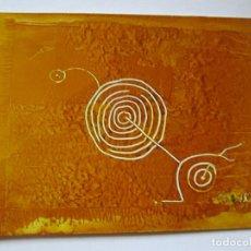 Varios objetos de Arte: *(15)-ARTE-OBRA-MARGA CHAS OCAÑA-PETROGLIFO GALLEGO-35X25 CMS-SOBRE CARTÓN-VER FOTOS.. Lote 81721492