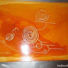 Varios objetos de Arte: *(17)-ARTE-OBRA-MARGA CHAS OCAÑA-PETROGLIFO GALAICO-50X35 CMS-SOBRE CARTÓN-VER FOTOS.. Lote 82050944