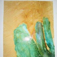 Varios objetos de Arte: *(19)-ARTE-OBRA-MARGA CHAS OCAÑA-TIERRA DE MENHIRES-34X23 CMS-PERFECTA-FIRMADA-VER FOTOS. Lote 82053124