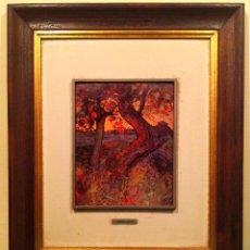 Varios objetos de Arte: PINTURA AL ESMALTE DE DAMIA SEGARRA CODINA 1936. Lote 82760596