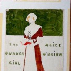 Varios objetos de Arte: ORIGINAL PINTURA, PARA EL CARTEL: THE QUAKER GIRL. 1911.EL ENVIO ESTA INCLUIDO EN EL PRECIO.. Lote 82877740