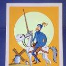 Varios objetos de Arte: DON QUIJOTE Y ROCINANTE - ORIGINAL SERIE DE DIBUJOS ANIMADOS DON QUIJOTE DE LA MANCHA (1979). Lote 82922308