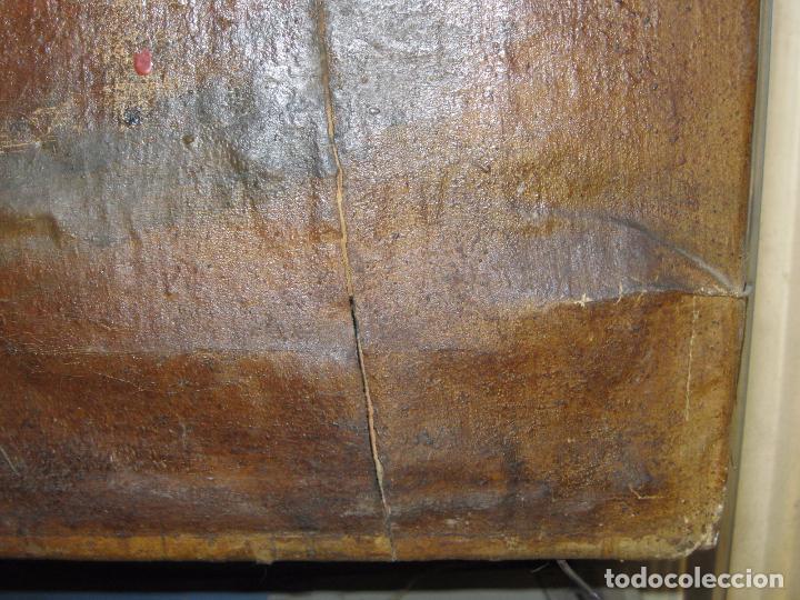 Varios objetos de Arte: ENORME PINTURA ANTIGUA OLEO LIENZO SIGLO XIX XVIII 150 X 120 - Foto 7 - 82969376