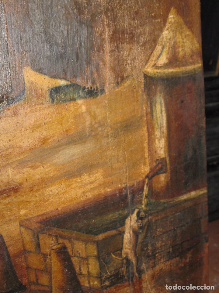 Varios objetos de Arte: ENORME PINTURA ANTIGUA OLEO LIENZO SIGLO XIX XVIII 150 X 120 - Foto 9 - 82969376