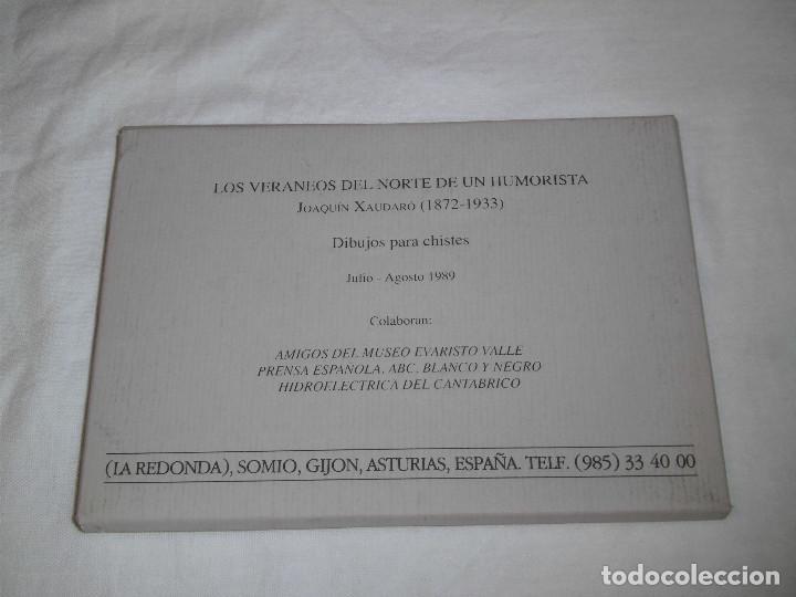 Varios objetos de Arte: FUNDACION MUSEO EVARISTO VALLE.JOAQUIN XAUDARO LOS VERANEOS DEL NORTE.LIBRO Y 30 DIBUJOS PARA CHISTE - Foto 10 - 83604828