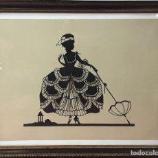Varios objetos de Arte: DAMA. RECORTABLE SOBRE PAPEL. FIRMA ILEGIBLE. ESPAÑA (?) SIGLO XX. . Lote 84016200