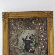 Varios objetos de Arte: CUADRO RELIGIOSO STA. TERESA DE JESUS. S.XIX.. Lote 84207932