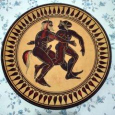 Varios objetos de Arte: PLATO GRIEGO SÁTIRO Y MÉNADE. Lote 84230008