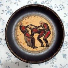 Varios objetos de Arte: PLATO GRIEGO ESCENA ERÓTICA. Lote 89193414