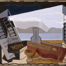 Varios objetos de Arte: CUADRO REPLICA DE JUAN GRIS, EN MADERA: VENTANA ABIERTA 40X28 CM.. Lote 84734032