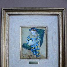 Varios objetos de Arte: REPRODUCCION ESMALTADA DE PICASSO ENMARCADA . Lote 84736404