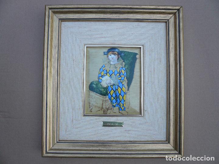 Varios objetos de Arte: REPRODUCCION ESMALTADA DE PICASSO ENMARCADA - Foto 4 - 84736404