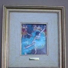 Varios objetos de Arte: REPRODUCCION ESMALTADA DE DEGAS ENMARCADA . Lote 84736724